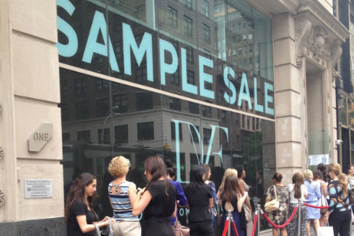 The line at the last sample sale