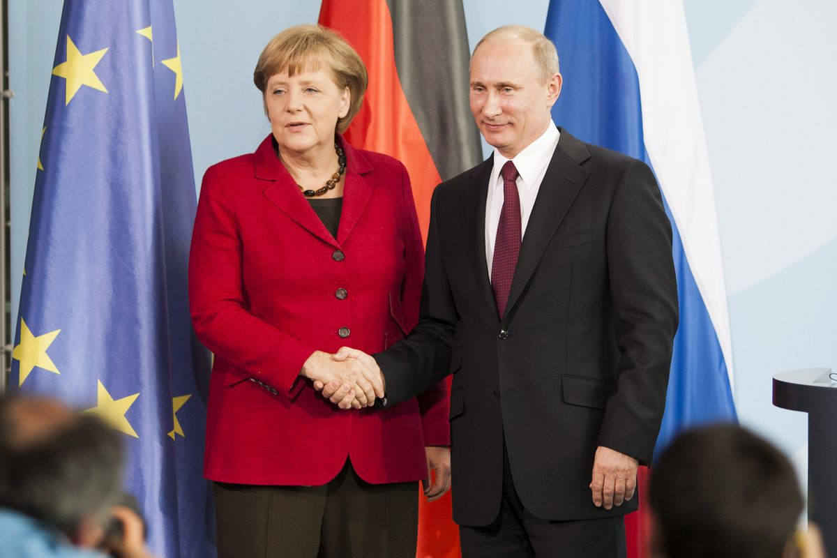 Merkel was the most prominent Westerner opposing Putin's incursion into Ukraine