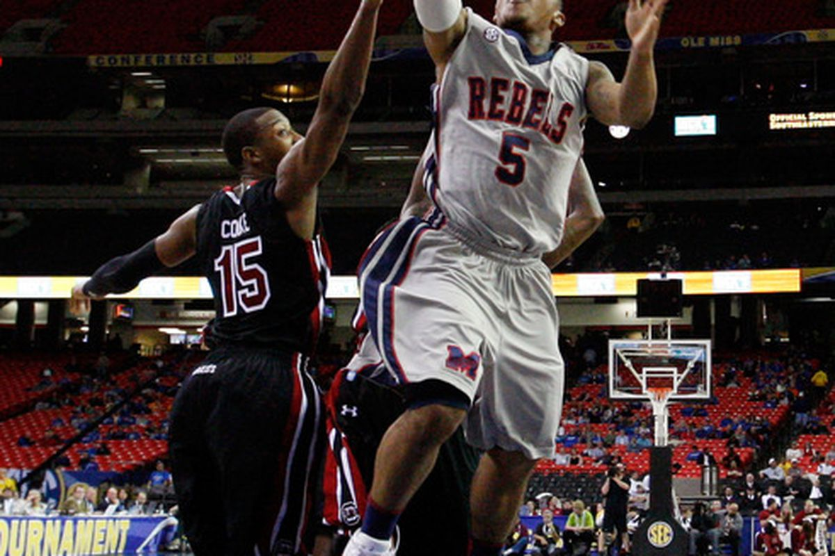 Cous Cous Nelson played well early for the Rebels, giving fans a look at the potential possessed by the freshman.