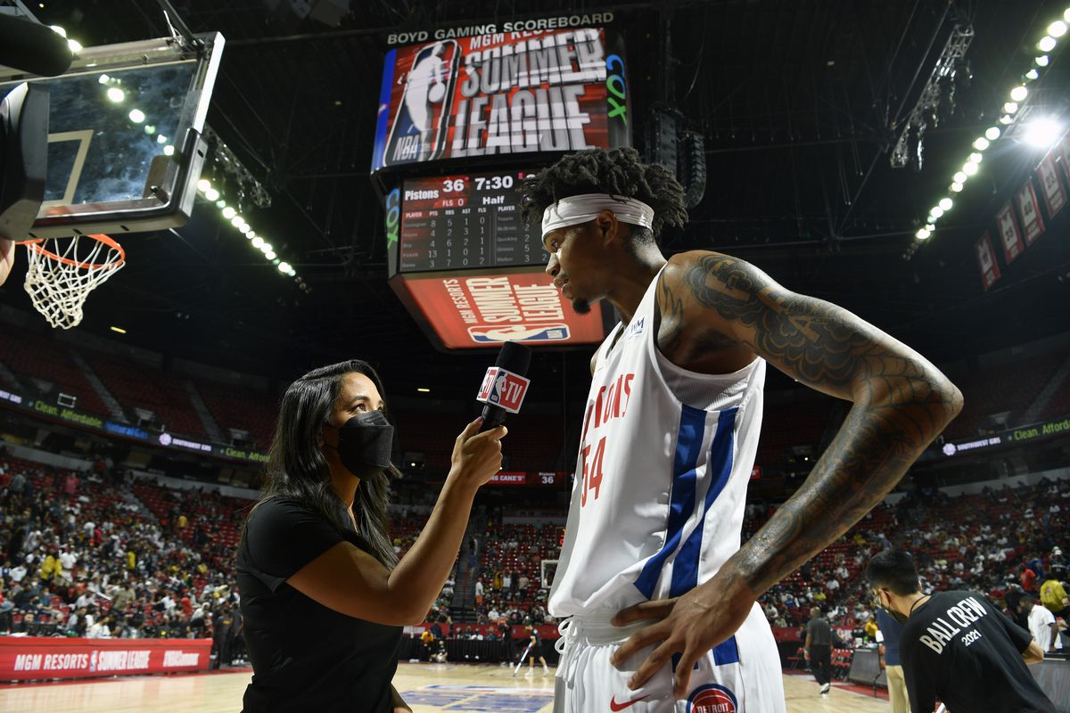 2021 Las Vegas Summer League - New York Knicks v Detroit Pistons