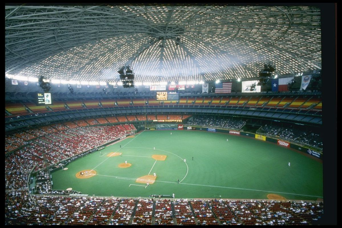 General view of the Houston Astrodome during a game between the Chicago Cubs and the Houston Astros in Houston, Texas. (Photo: Matthew Stockman/Getty Images Sport)