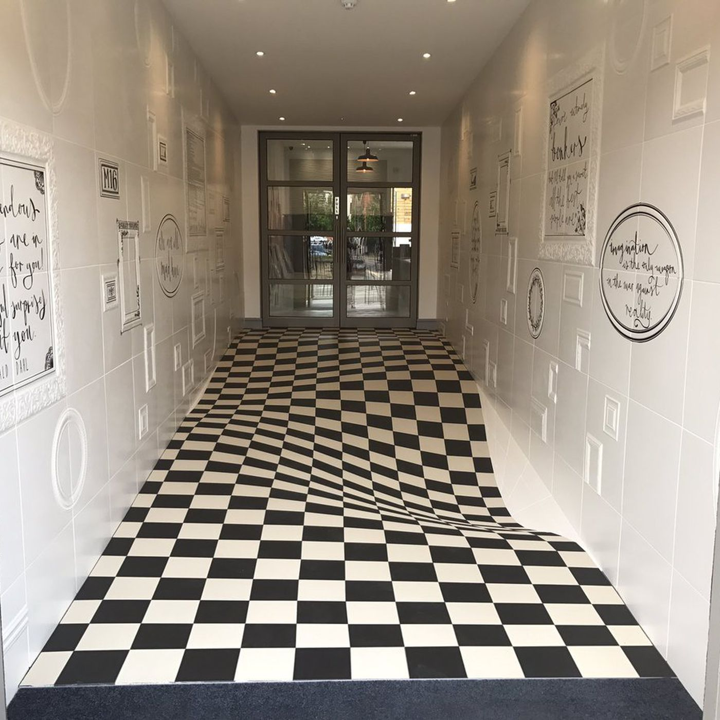 Tile design uses optical illusion to slow people down curbed ppazfo