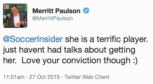 Merritt Paulson on Ali Krieger
