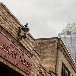 """<a href=""""http://austin.eater.com/archives/2012/07/13/inside-downtowns-absolutely-ridonk-russian-house.php"""">Austin: Go Inside Downtown's Absolutely Ridonk <strong>Russian House</strong></a> [Spencer Selvidge/EATX]"""