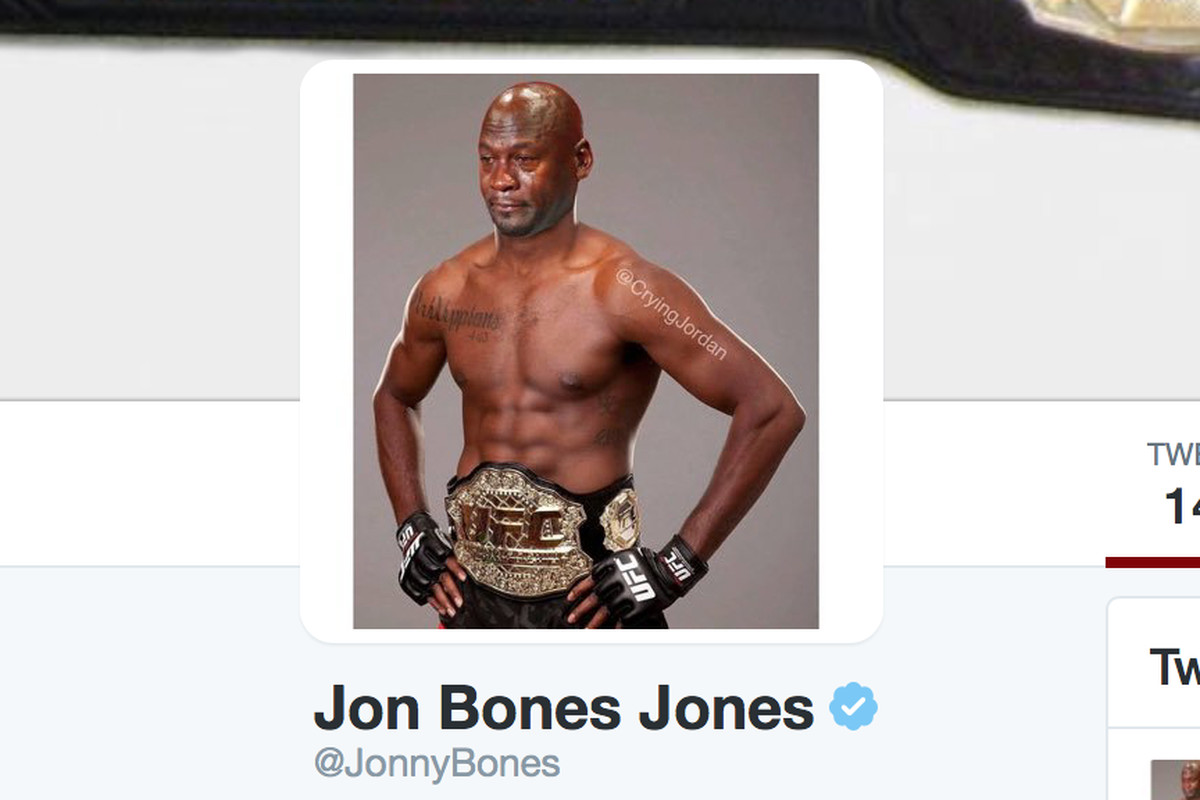 Jon Jones switches Twitter photo to crying Michael Jordan meme following  USADA suspension da88efeaec85