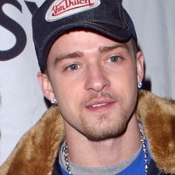 Justin Timberlake at a Grammy Awards afterparty at Palms Casino Resort in Vegas, February 2003.