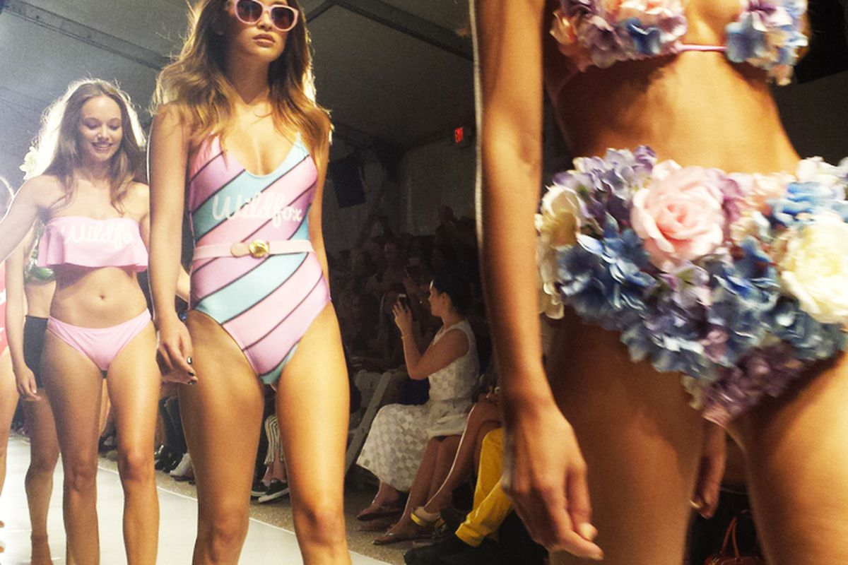 """Image <a href=""""http://miami.racked.com/archives/2014/07/22/what-went-down-in-and-out-of-the-tents-at-swim-week.php"""">via</a>"""