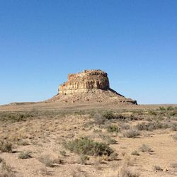 This August 2012 photo shows Fajada Butte, Chaco Canyon, in northwestern New Mexico. Chaco Canyon, the center of a culture that flourished from the 800s to the 1100s, is run by the National Park Service and is accessible only via dirt road.