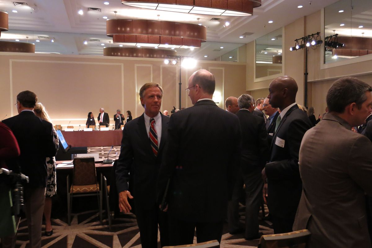 Gov. Bill Haslam and Shelby County Schools superintendent Dorsey Hopson at the education summit in Nashville.
