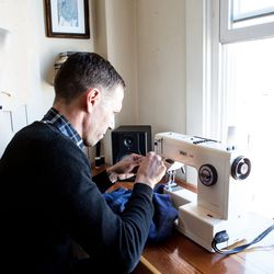 Luke became interested in sewing after taking an upholstery class.