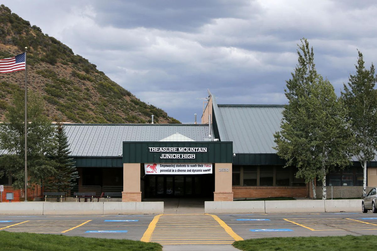 """FILE""""""""Treasure Mountain Junior High in Park City on Tuesday, Sept. 13, 2016. Probation and treatment was ordered Friday for a Park City teenager who procured the deadly synthetic opiate """"pink"""" from China, leading to the overdose deaths of two 13-yea"""