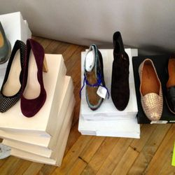 Loeffler Randall pumps, Belle by Sigerson Morrison booties, and Rachel Comey loafers, <b>$40—$60</b>
