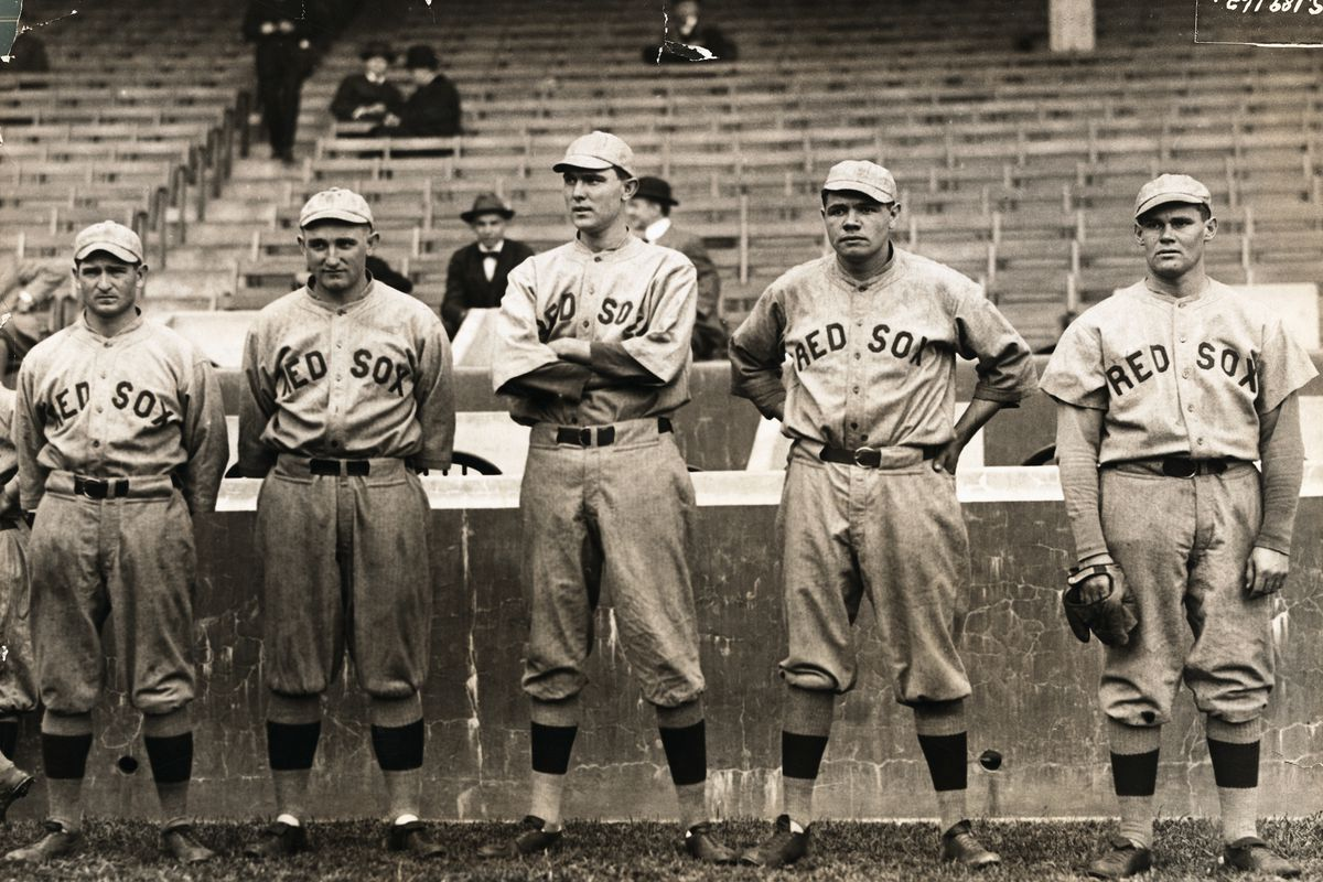 Babe Ruth with Boston Red Sox Teammates