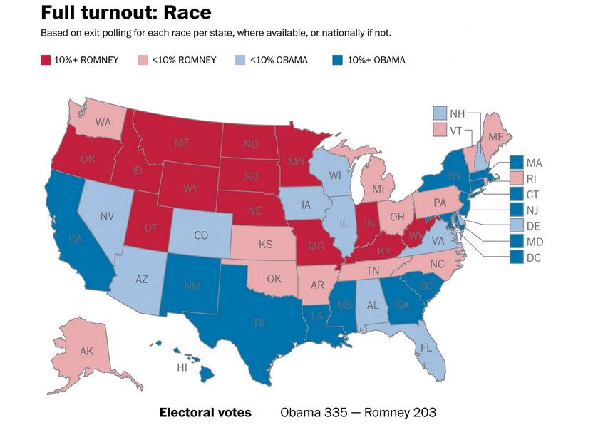 What would the 2012 election have looked like with 100 ... on map of corruption, map of science, map of transportation, map of constitution, map of veterans, map of lgbt, map of home, map of media, map of iran, map of fashion, map of poverty, map of afghanistan, map of war, map of thanksgiving, map of facebook, map of business, map of congress, map of freedom, map of travel,