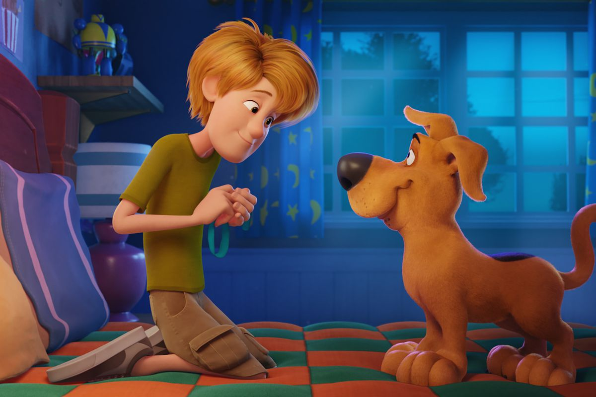 """Young Shaggy and young Scooby-Doo in the new animated adventure """"SCOOB!"""" from Warner Bros. Pictures and Warner Animation Group."""