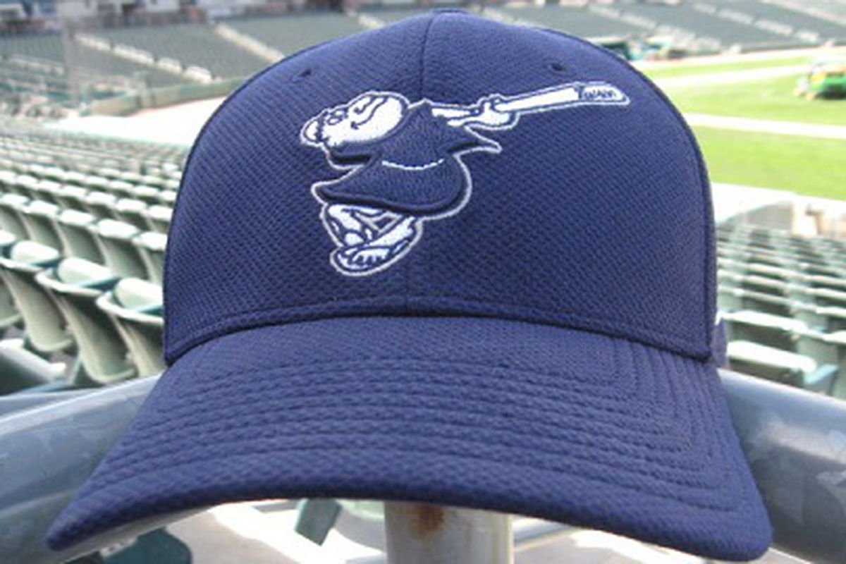 The old style Swinging Friar logo is on the new Tucson Padres cap.
