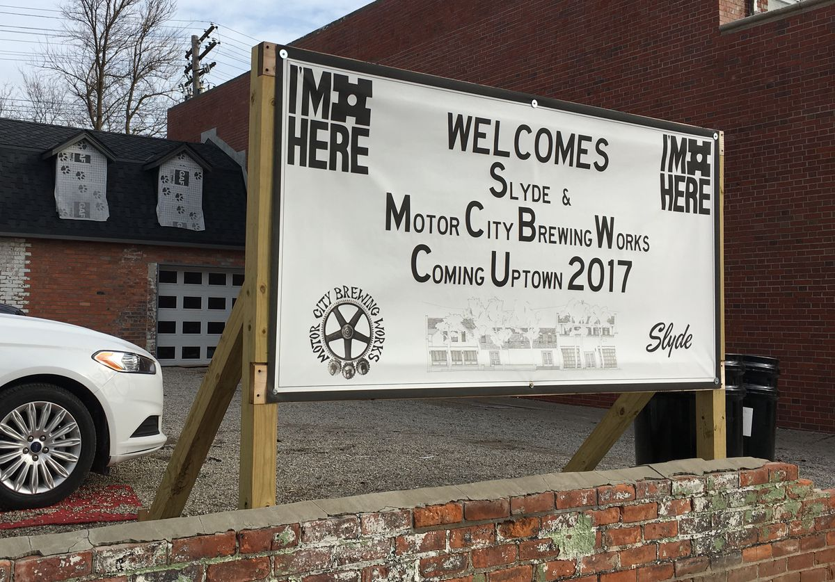 motor city brewing works sign