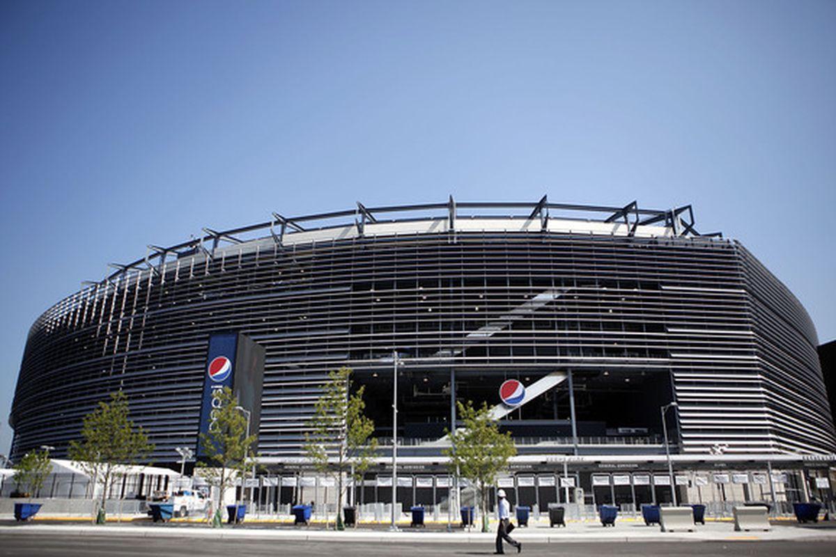 The new Jets stadium opens on Monday Night Football.