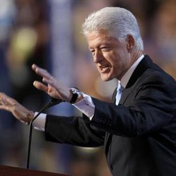 FILE - In this Aug. 27, 2008, file photo, former President Bill Clinton speaks at the Democratic National Convention in Denver.