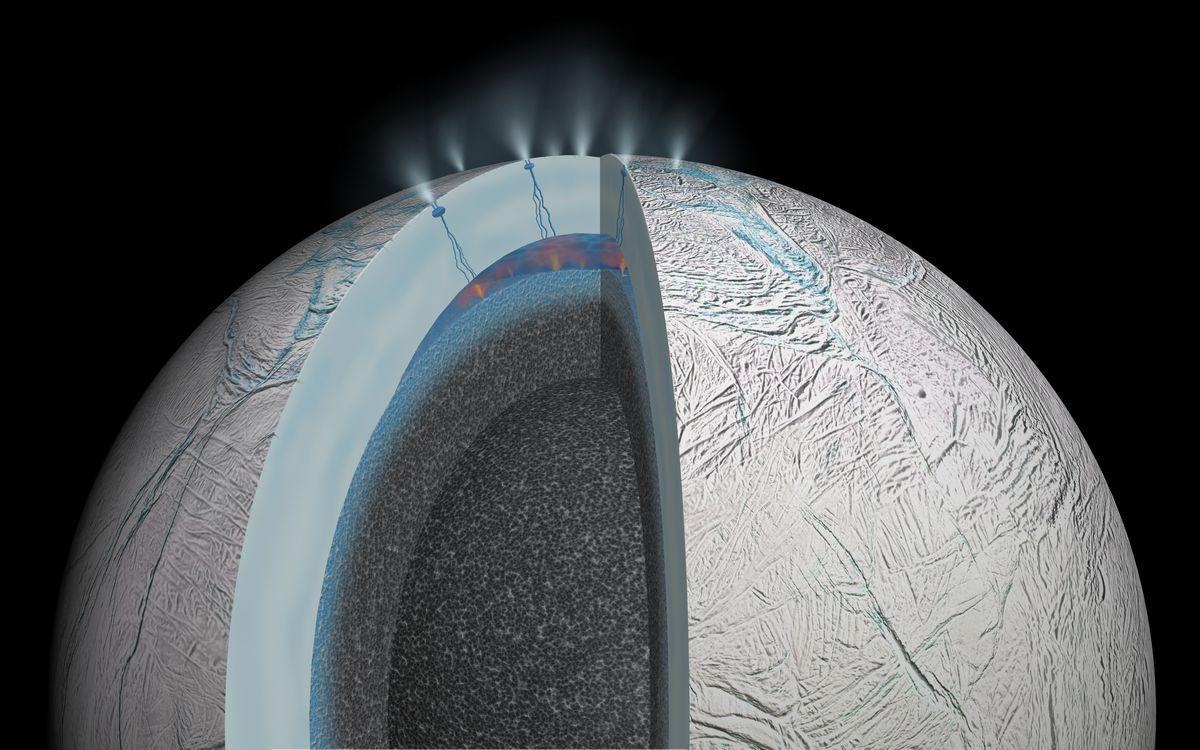 enceladus hot springs