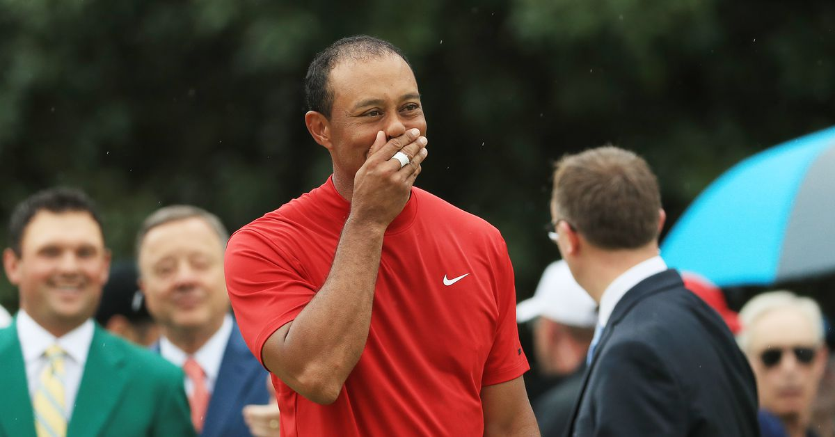 On a day at Augusta National watching something we thought we'd never see again: Tiger Woods winning the Masters.