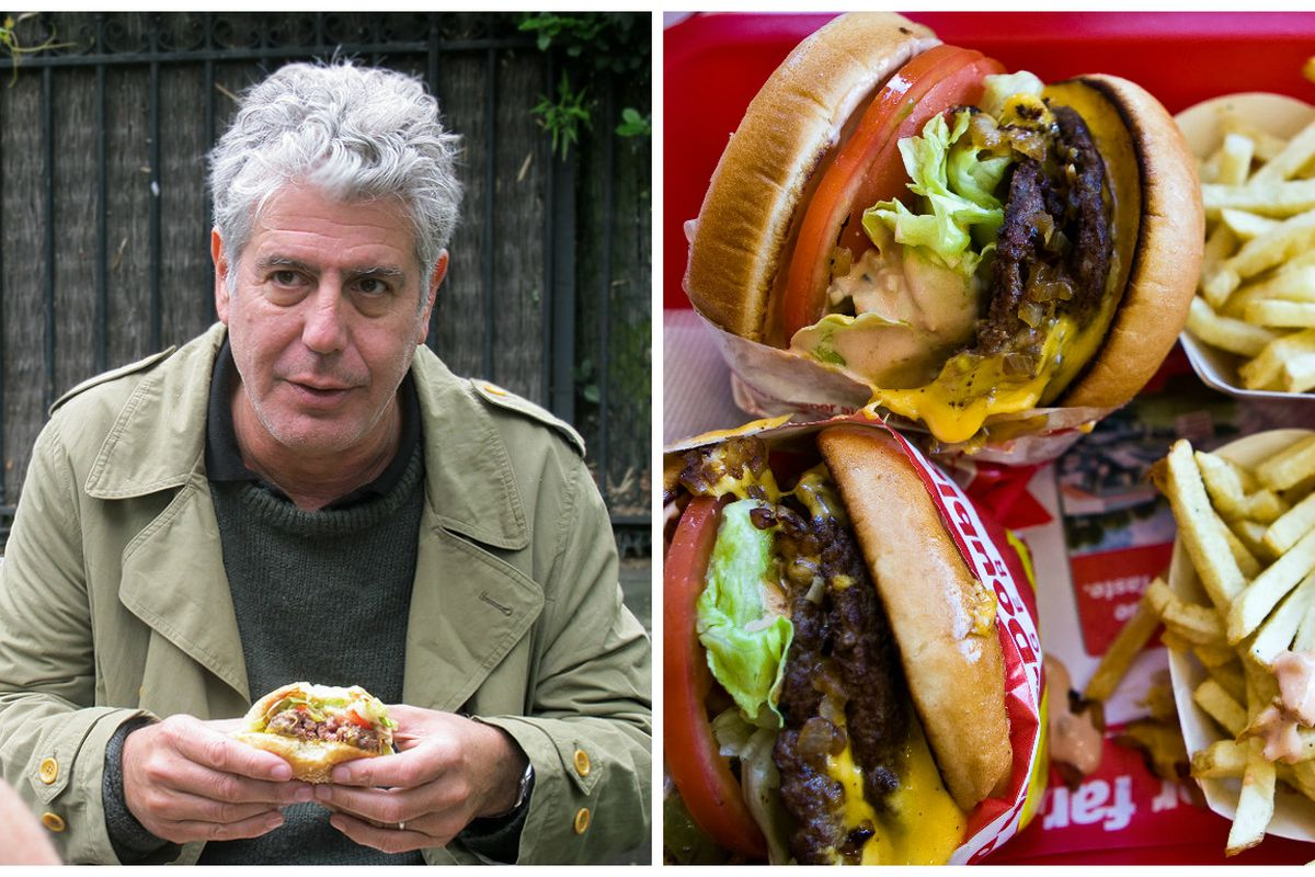 e01d3391f6 Anthony Bourdain S Literary Inspiration In N Out Veggie Burger