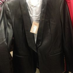 Band of Outsiders leather blazer, $480