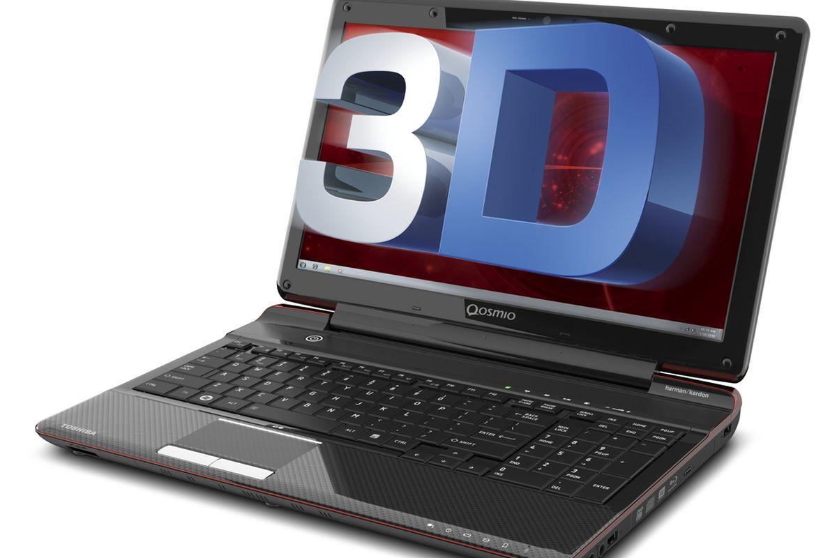 Qosmio F755 glasses free 3D press shot