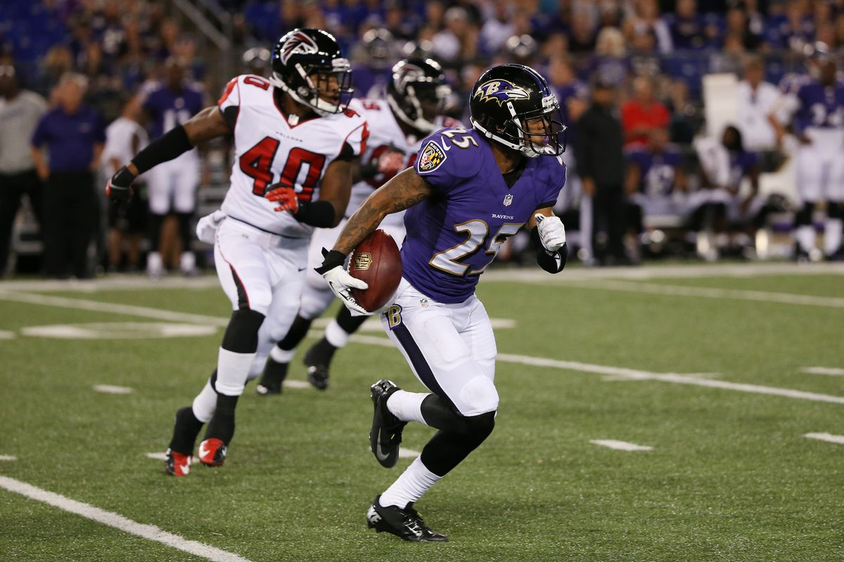 Asa Jackson broke a punt return for a touchdown in the fourth quarter of Baltimore's 27-23 win over Atlanta.