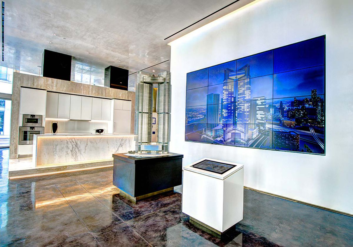 miami u2019s one river point opens museum-like sales gallery