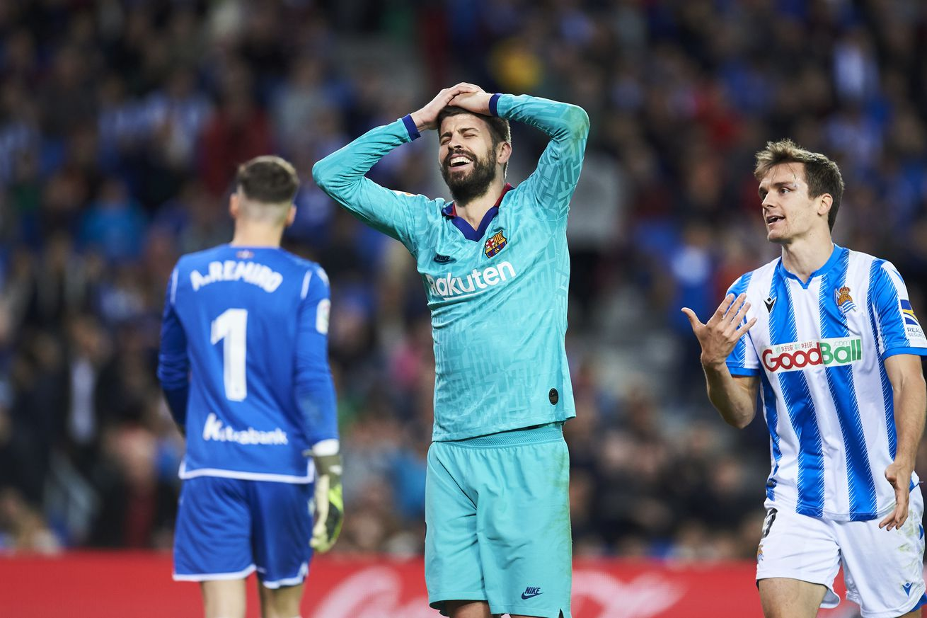 La Real shackled by Pique?s mastery of the defensive art