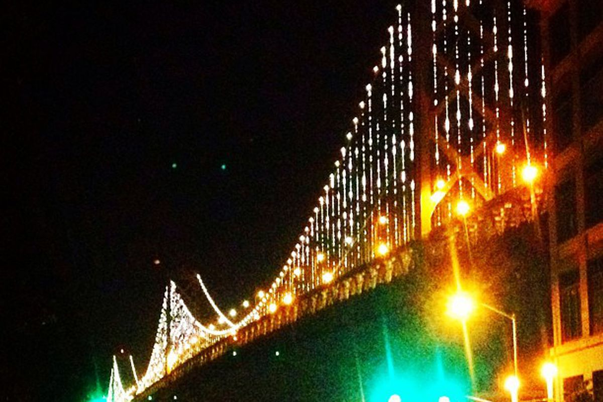 """Image via <a href=""""http://thebaylights.org/instagrams"""">The Bay Lights</a>"""