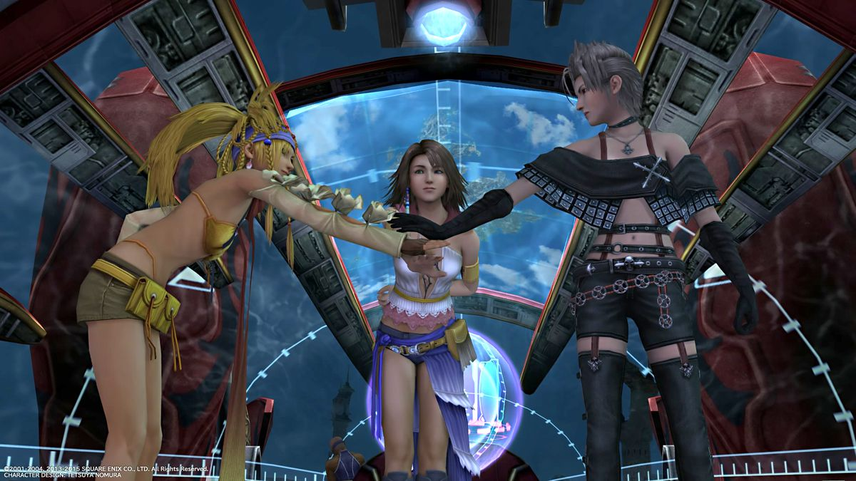 Rikku, Yuna, and Paine in Final Fantasy 1--2