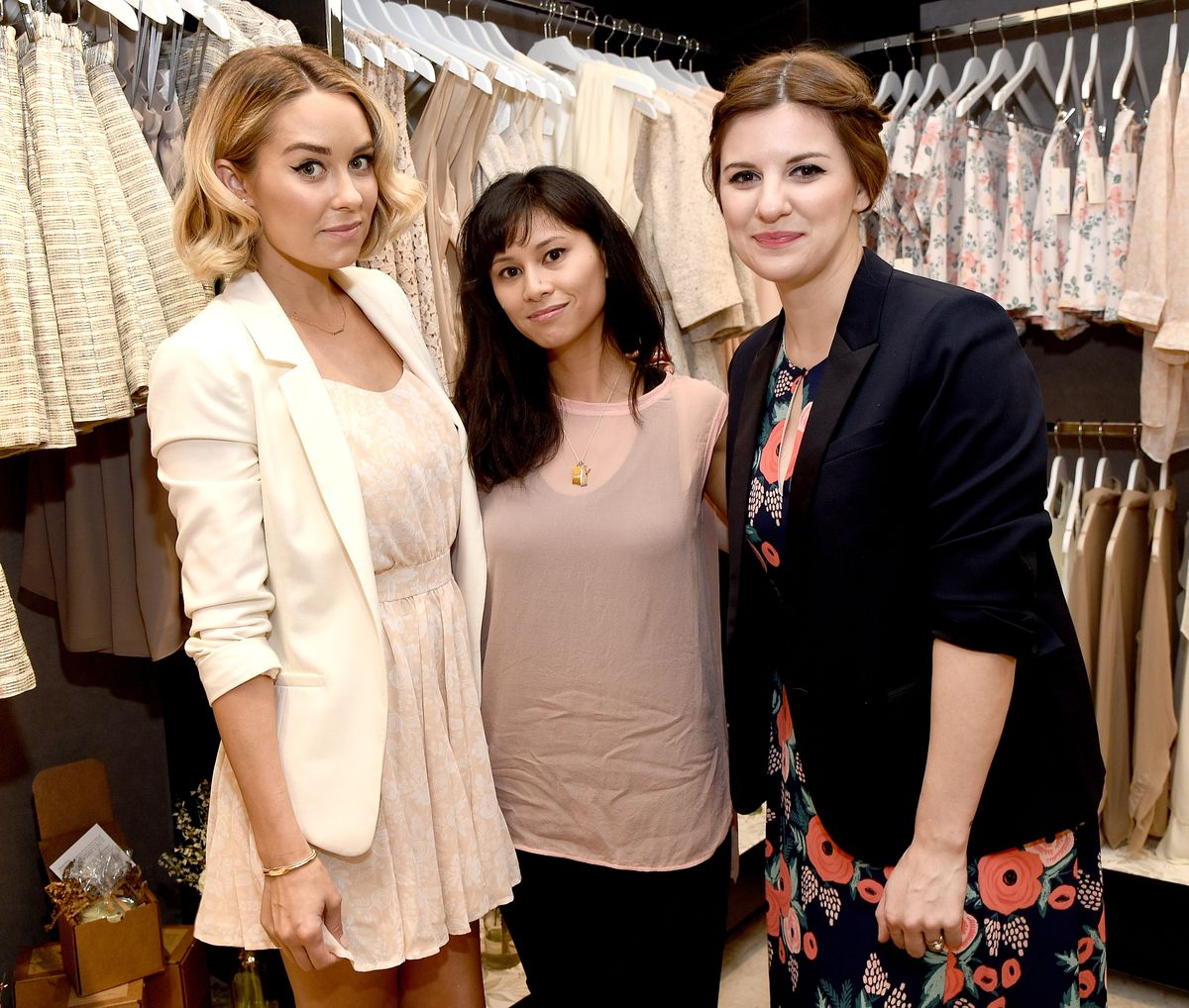 Lauren Conrad and Anna Bond at Paper Crown's pop-up at The Grove