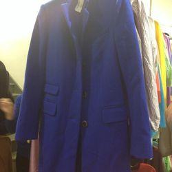 $150 cobalt wool coat