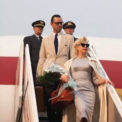 ...the sheath and trench Michelle wore as Marilyn...