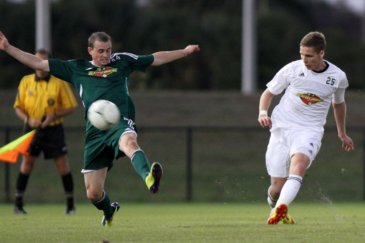 Chris Estridge (left) is a good marker who can get up and score some goals, but was he the best fullback on the board? (MLSSoccer.com)
