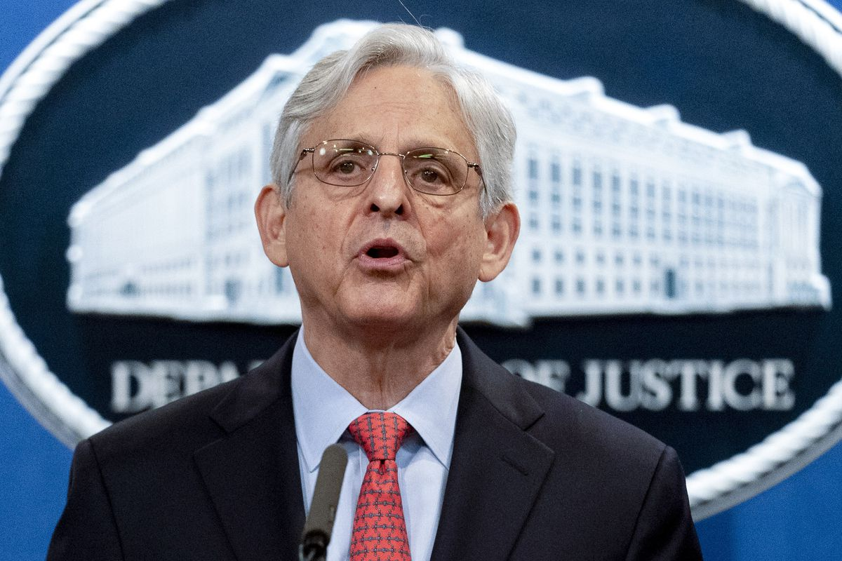 In this Aug. 5, 2021, file photo, Attorney General Merrick Garland speaks at a news conference at the Department of Justice in Washington. The first set of federal agents working for the Justice Department have started wearing body cameras under a new policy that reversed a years-long ban, Garland said Sept. 1.