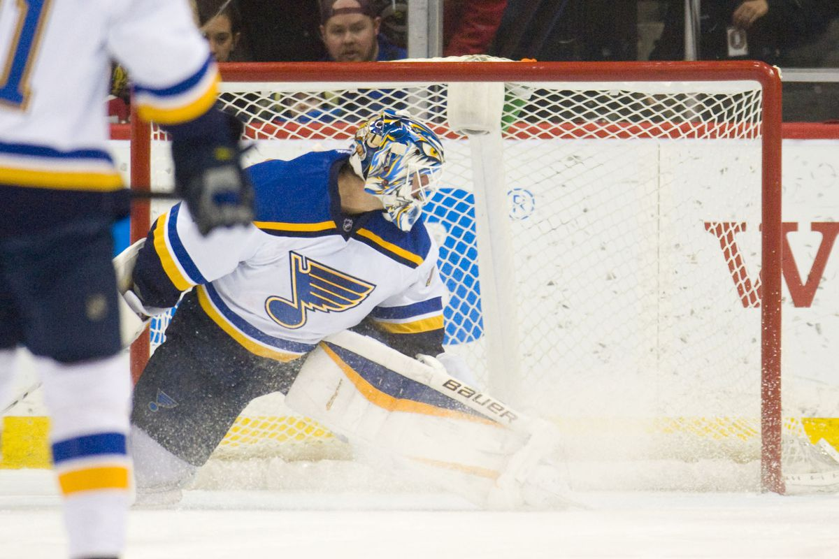 Could get used to Blues goalies looking behind them.