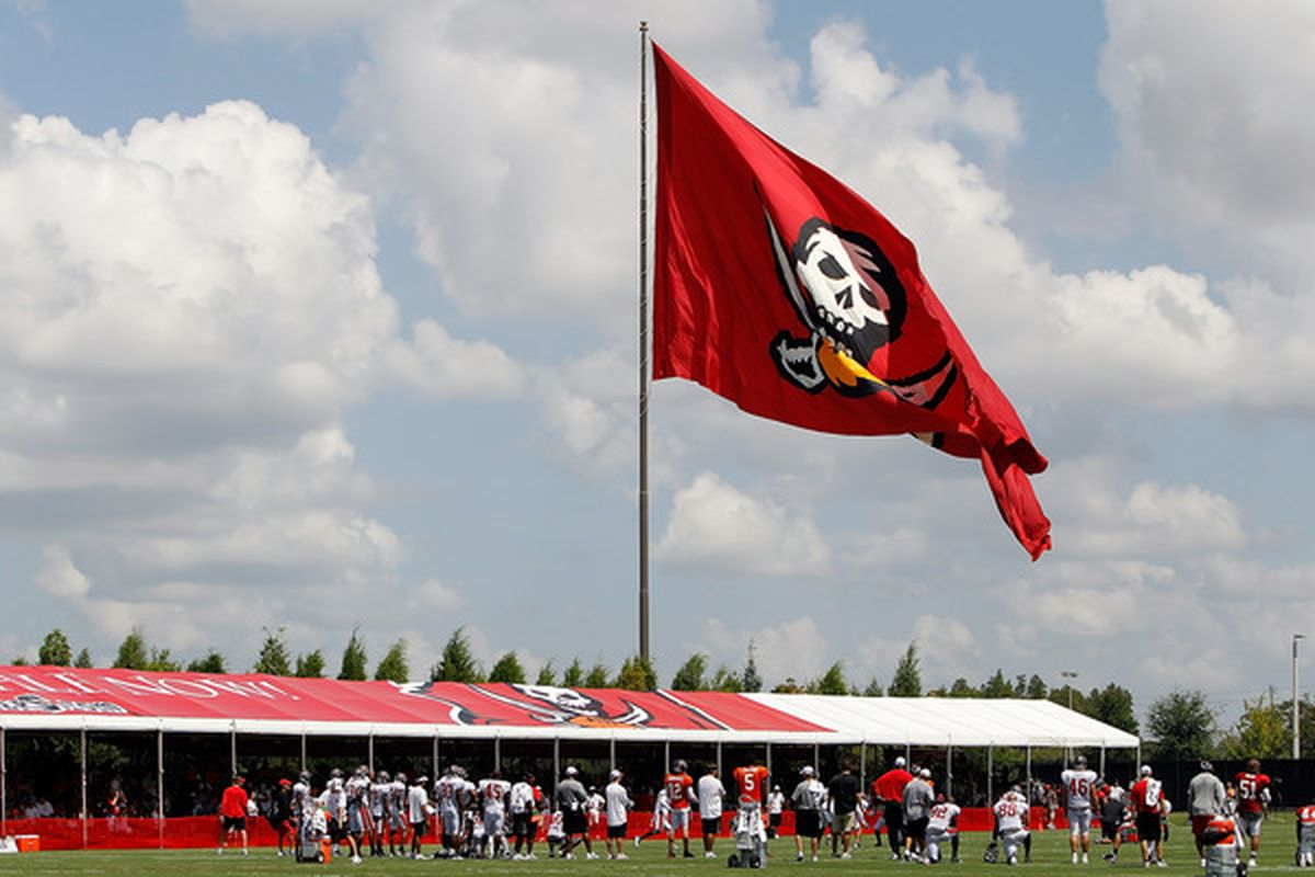 ddc671652 TAMPA - JULY 31: The training facility of the Tampa Bay Buccaneers during Training  Camp at One Buccaneer Place on July 31 2010 in Tampa Florida.