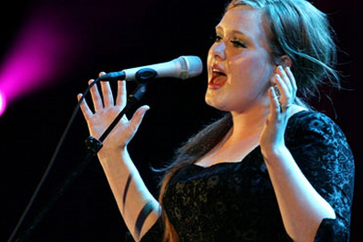 "Adele in Barbara Tfank. Image via <a href=""http://latimesblogs.latimes.com/music_blog/2009/06/live-adele-at-the-hollywood-bowl.html"">LA Times</a>"