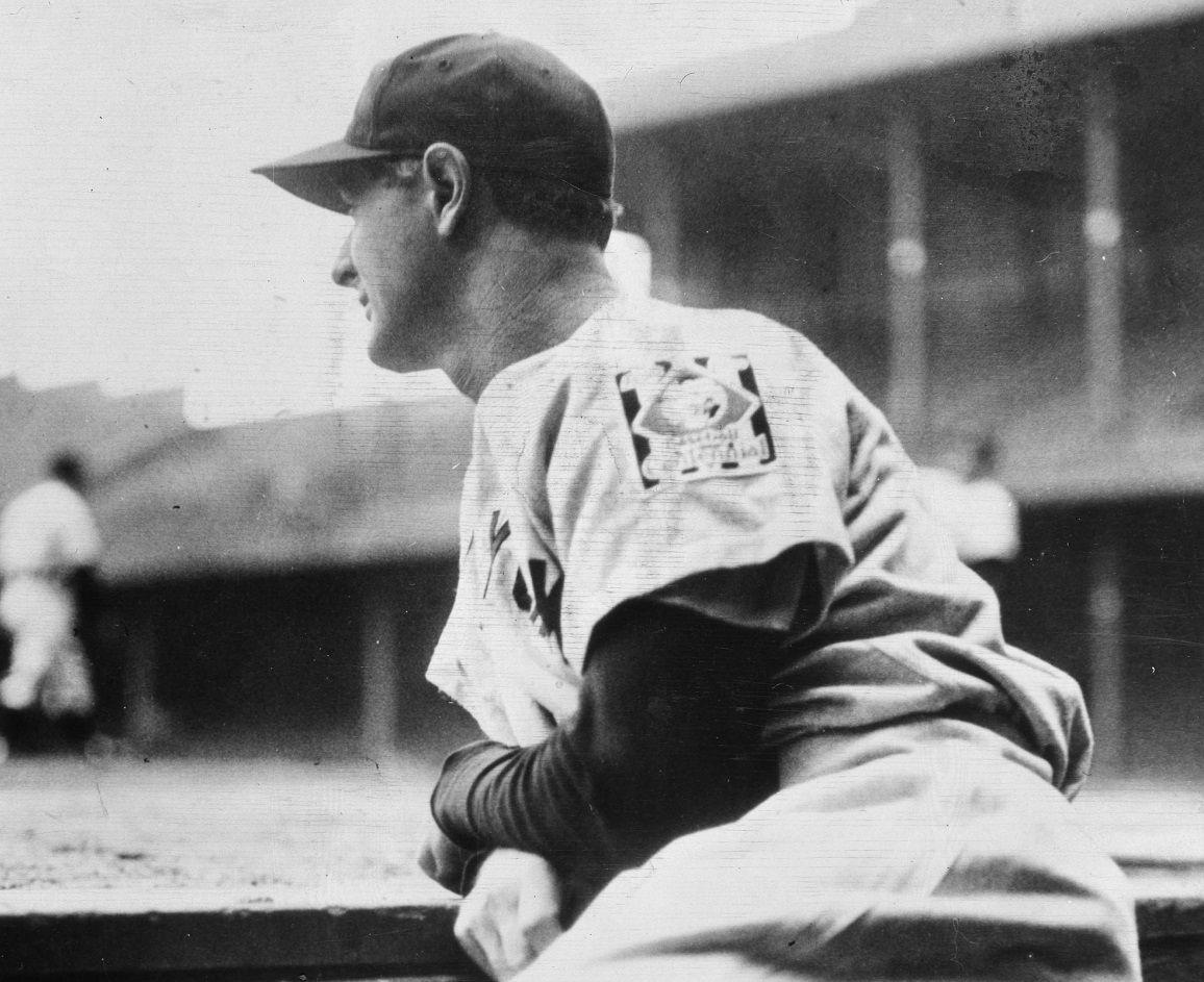 Lou Gehrig sits