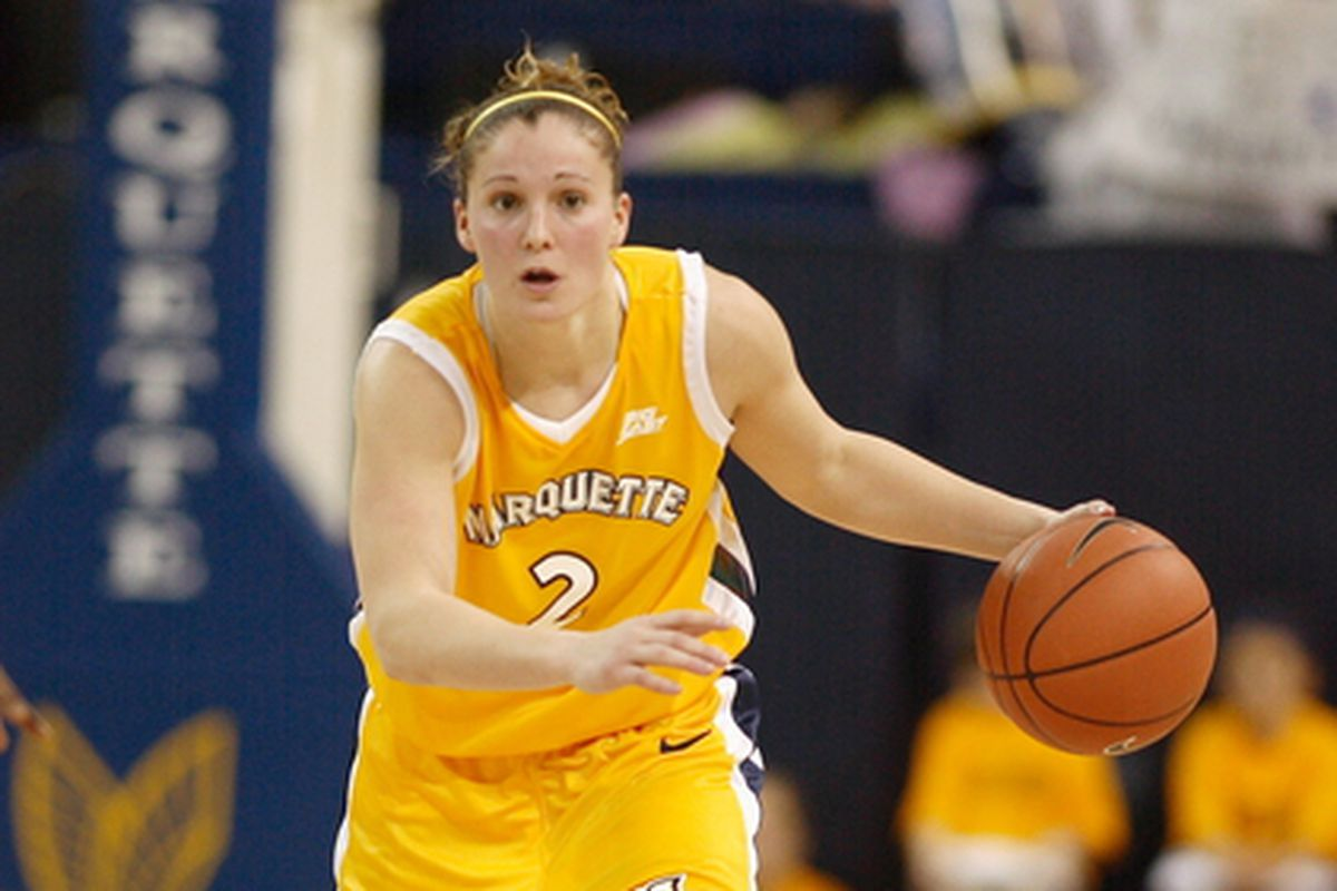 New Marquette head women's basketball coach Carolyn Kieger back in her playing days.