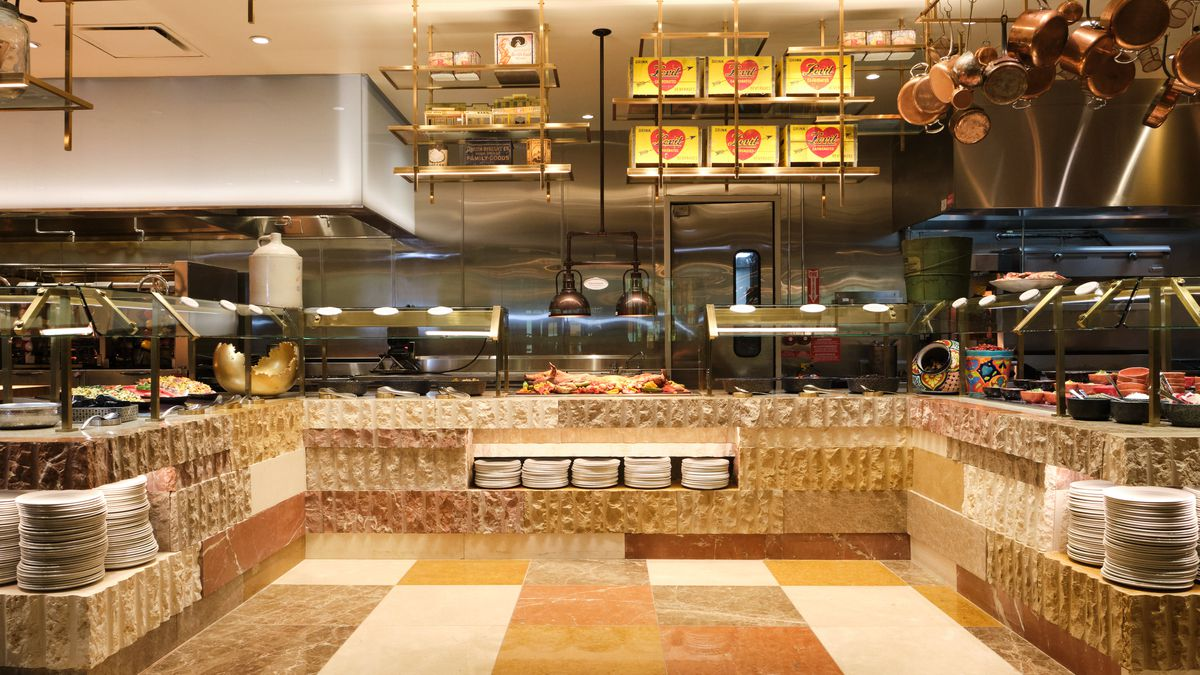 A section at Bacchanal Buffet with suckling pig