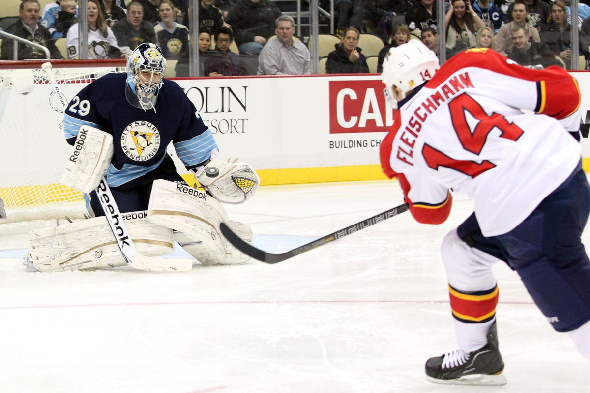 Flash: 9 goals (3 gamewinners) in 19 games vs Pittsburgh. This is evidently not one of those goals.