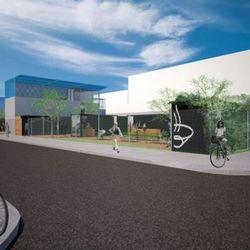 Rendering of the future Suppenkuche Biergarten
