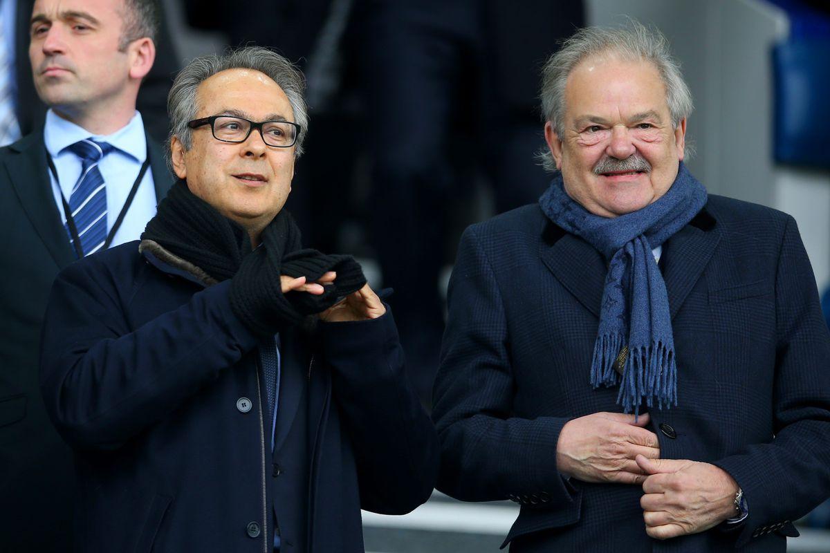 Everton owner Farhad Moshiri and board member Jon Woods