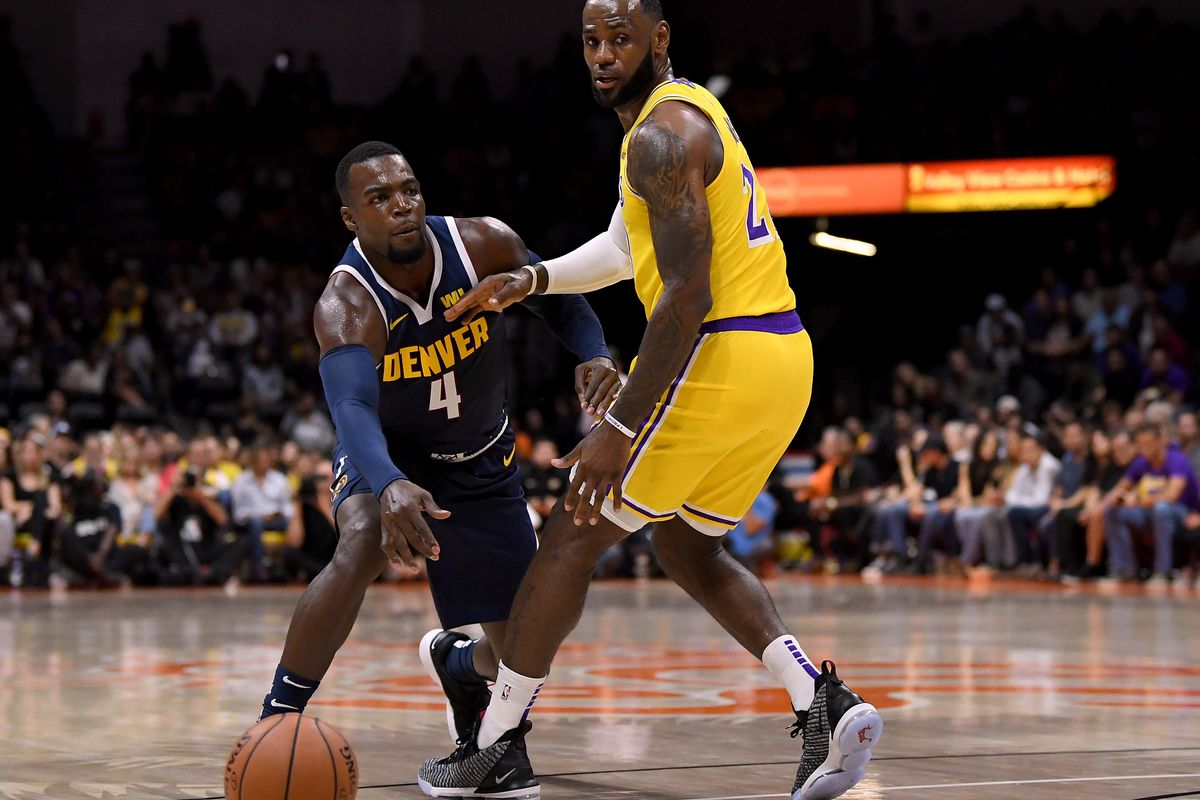 852511e249e07 Recap  Denver Nuggets struggle against LeBron James