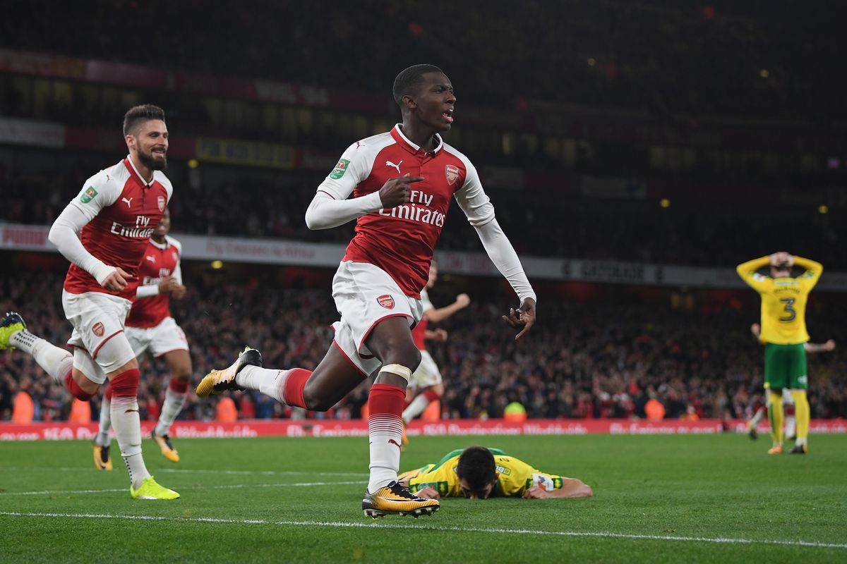 Eddie Nketiah signs long-term Arsenal deal