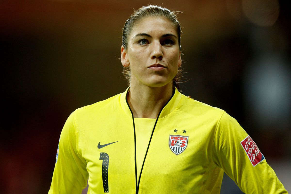 FRANKFURT AM MAIN, GERMANY Hope Solo of USA looks dejected during the FIFA Women's World Cup Final match between Japan and USA at the FIFA World Cup stadium Frankfurt in Frankfurt am Main, Germany.  (Photo by Friedemann Vogel/Getty Images)
